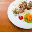 Meat cuisine - kebab served in plate — Stock Photo #8873892