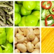 Set of various fruit and vegetables — Stock Photo #8876424