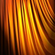 Stock Photo: Brightly lit curtains in theatre concept