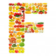 Royalty-Free Stock Photo: Alphabet made of many fruits and vegetables