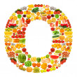 Alphabet made of many fruits and vegetables — Stock Photo #8879252
