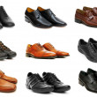 Stock Photo: Various shoes isolated on the white