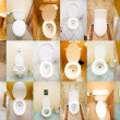 Collection of toilets from various places — Stock Photo