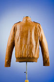 Brown leather jacket in fashion concept — 图库照片