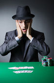 Man playing in the casino — Stock Photo