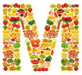 Alfabet składa się z wielu owoców i warzyw — Zdjęcie stockowe