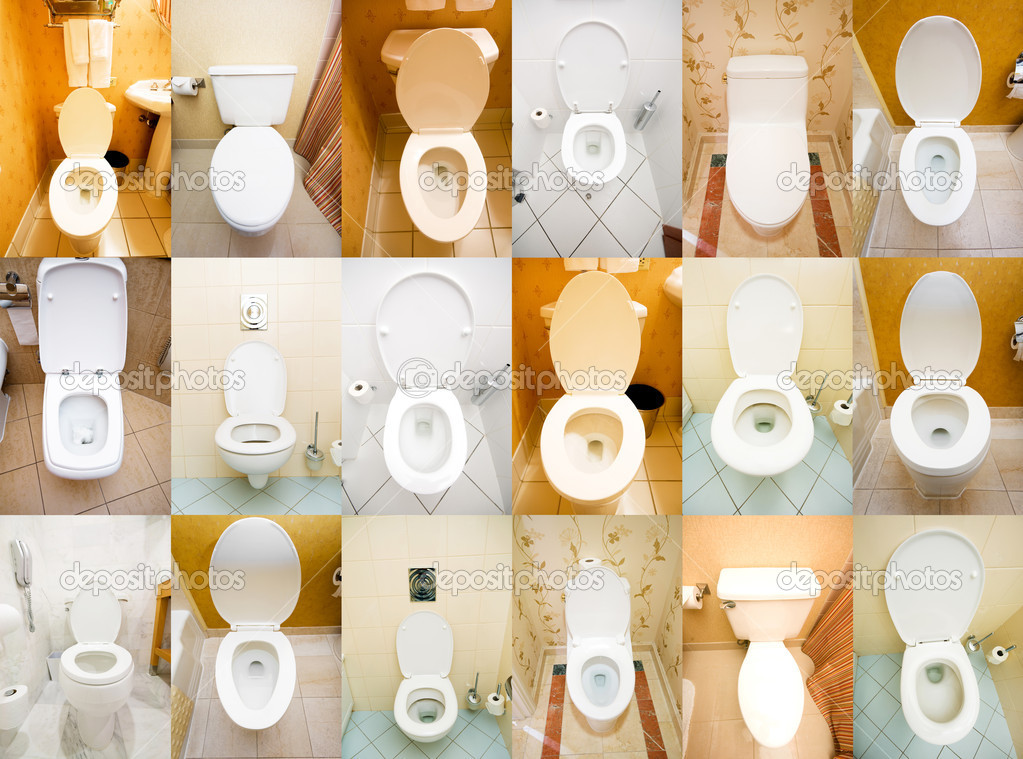 Collection of toilets from various places — Stock Photo #8879529