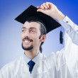Young male student graduate — Stock Photo #9094545
