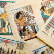 Egyptian history concept with papyrus — Stock Photo