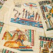 Egyptian history concept with papyrus — Stock Photo #9094676