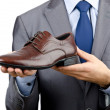 Stock Photo: Mwith selection of shoes