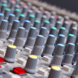 Close up of sound adjusting buttons - Foto Stock