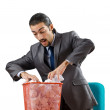 Man with lots of wasted paper — Stock Photo #9097240