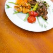 Foto de Stock  : Plate with tasty lamp kebabs
