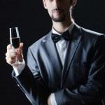 Man tasting wine in glass — Stock Photo #9099260