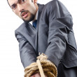 Businessman in the tug of war concept — Stock Photo #9099311
