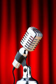 Vintage microphone against the background — Stock Photo