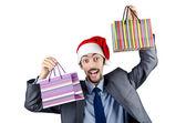 Weihnachten-konzept mit einkaufstasche — Stockfoto