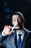 No smoking concept with cigarette — Stock Photo