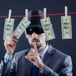 Criminal laundering dirty money — Stock Photo #9100084