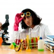 Student working in the chemical lab -  