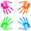 Hand print on the white — Stock Photo #9100666