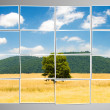 Photo cut into pieces with nature concept — Stock Photo #9100675