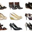 Collection of various shoes isolated on white — Stock Photo #9100748