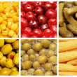 Set of various fruit and vegetables — Stock Photo #9100773