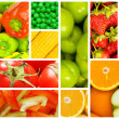 Set of various fruit and vegetables — Stock Photo #9100883