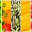 Set of various fruit and vegetables — Stock Photo #9100909