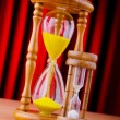Stock Photo: Time concept with hourglass