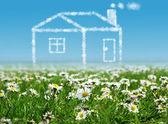 Maisons dans le ciel clair — Photo