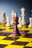 Concetto di gioco di scacchi con pezzi — Foto Stock