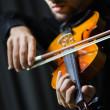 Fiddler playing the violin — Foto Stock
