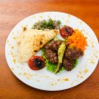 Meat cuisine - kebab served in plate — Stock Photo #9181218