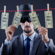 Criminal laundering dirty money — Stock Photo #9181898