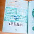 Passport with many stamped visas — Stock Photo #9182000