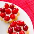 Stock Photo: Fruit pastries in plate