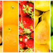 Set of various fruit and vegetables — Stock Photo #9182557