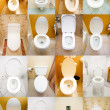 Collection of toilets from various places — Stock Photo #9182596