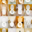 Stock Photo: Collection of toilets from various places