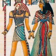 Egyptian history concept with papyrus - Foto de Stock
