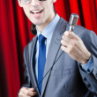 Man performing at the concert — Stock Photo #9287825