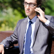 Young businessman at the street scene — Stock Photo #9287838