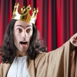King with crown against background — Stock Photo #9287842