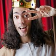 King with crown against background — Stock Photo #9287846