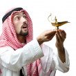 Young arab with lamp — Stock Photo #9288010