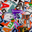 Cut letters from newspapers and magazines — Stock Photo #9289789