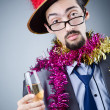 Magiciin business suit — Stock Photo #9290128